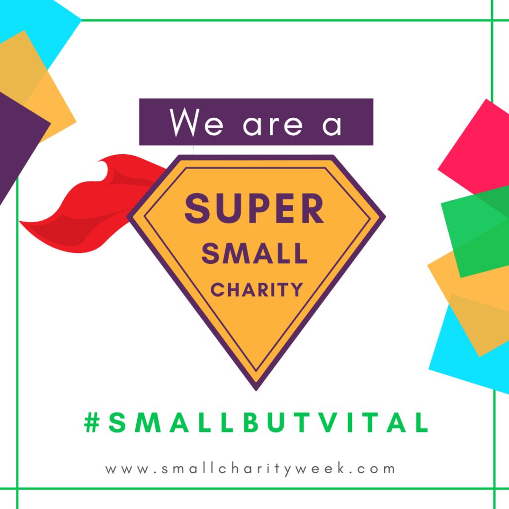 We are a super small charity logo
