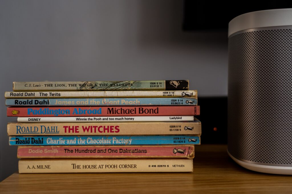 A pile of children's books